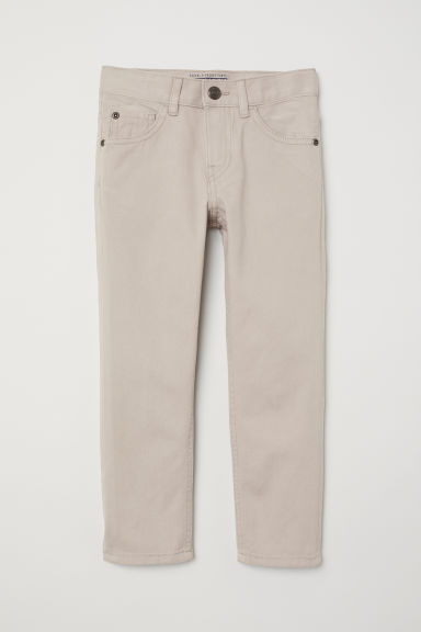 Twill trousers Regular fit - Light beige - Kids | H&M CN