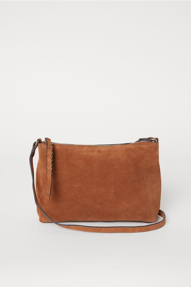 736050eeca Suede shoulder bag - Cognac brown - Ladies