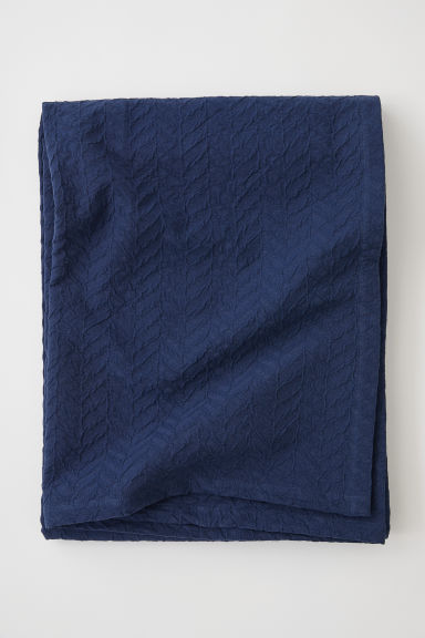 Jacquard-weave Bedspread - Dark blue - Home All | H&M US