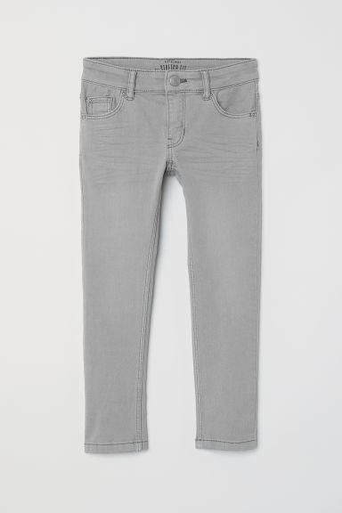 Stretch trousers - Light grey - Kids | H&M