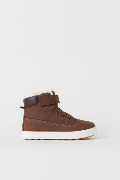 Pile-lined hi-tops - Brown -  | H&M CN