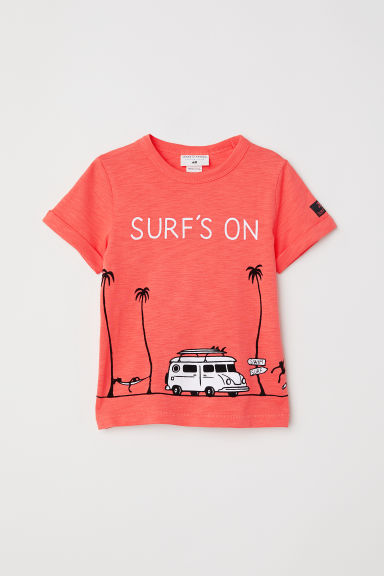 Printed T-shirt - Orange - Kids | H&M CN