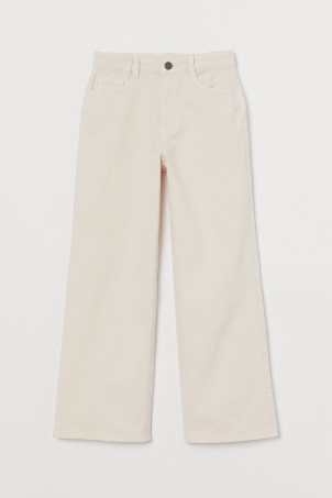 Pantalon en twill Wide High