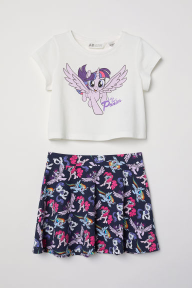 Top and skirt - Dark blue/My Little Pony - Kids | H&M