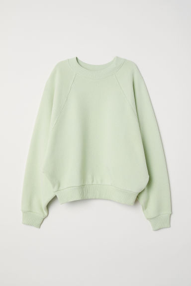 Oversized sweatshirt - Light green - Ladies | H&M