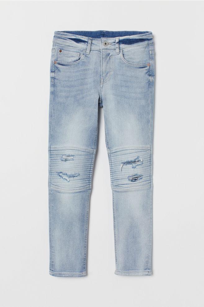 5802870a8c5 Skinny Fit Biker Jeans - Light denim blue - Kids | H&M ...