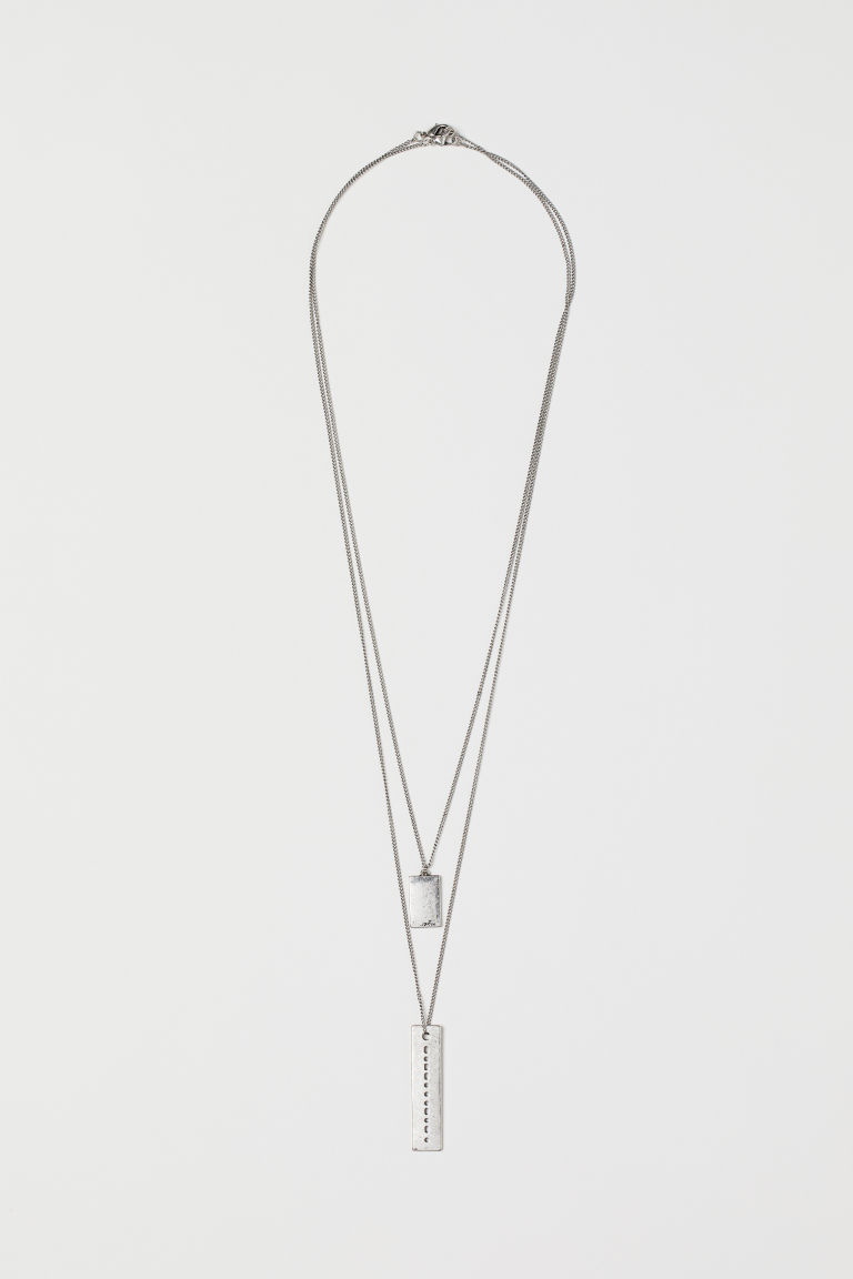 2-pack Necklaces - Silver-colored - Men | H&M CA