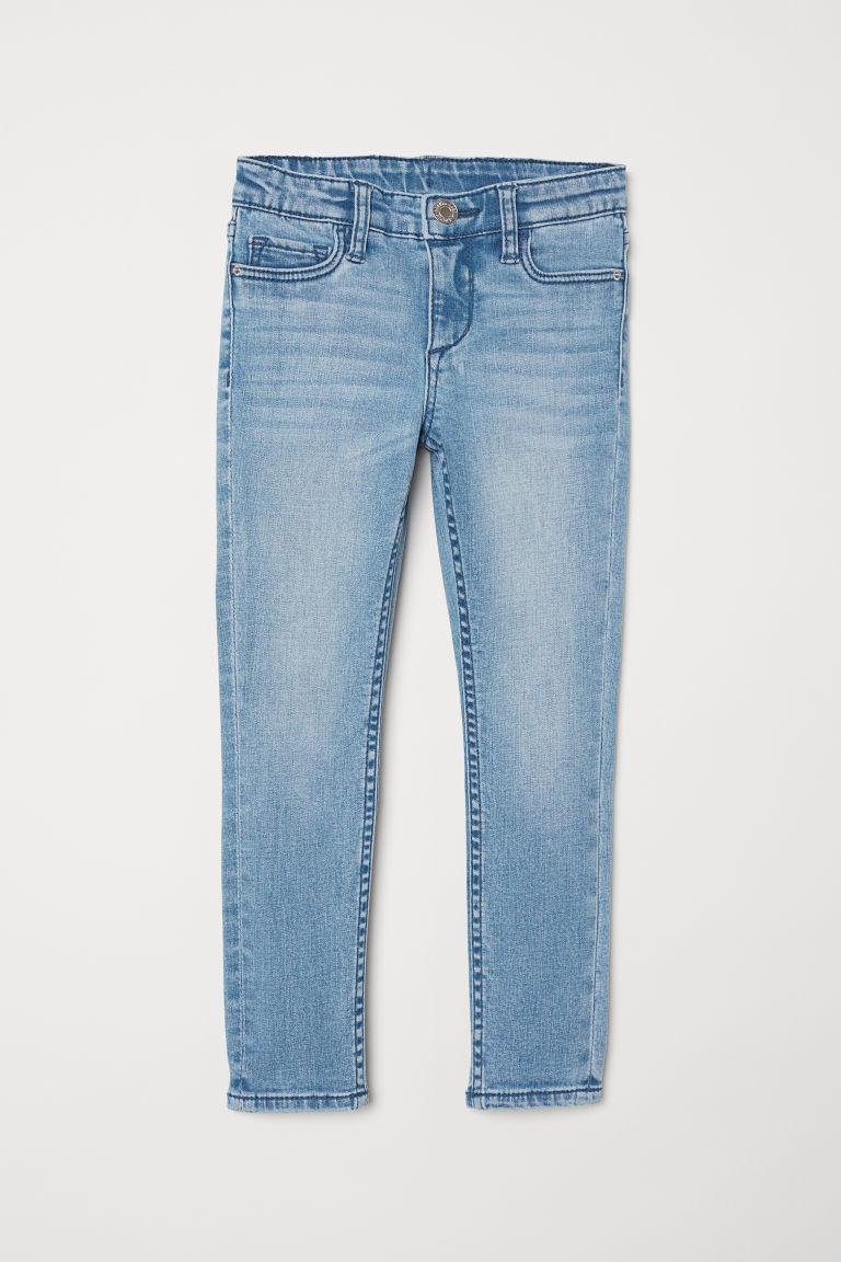 Superstretch Skinny Fit Jeans - Denim blue/Cat - Kids | H&M CN