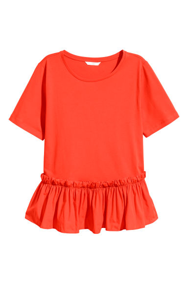 Top volanté - Rouge -  | H&M FR