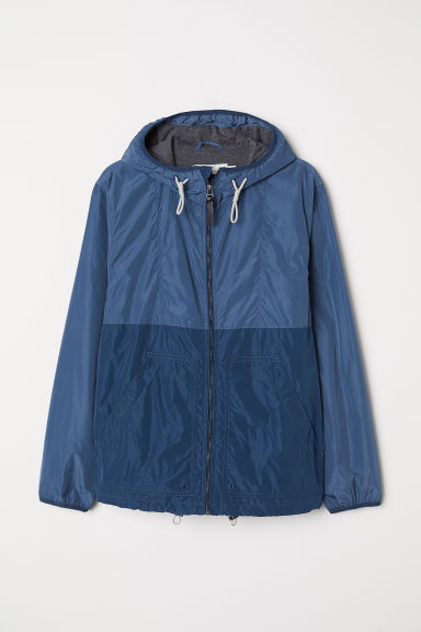 Hooded jacket - Blue - Men | H&M