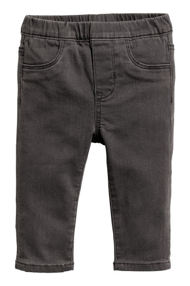 Denim treggings - Dark grey - Kids | H&M CN