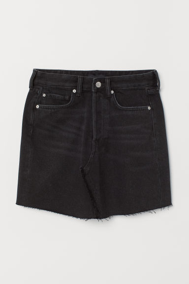 Denim rok - Zwart washed out - DAMES | H&M NL