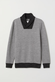 Shawl-collar Sweatshirt