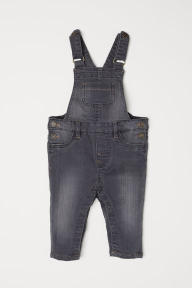 Denim dungarees - Dark denim grey - Kids | H&M