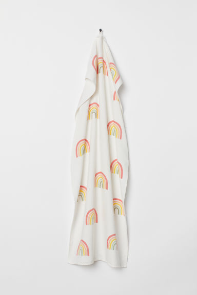 Patterned bath towel - Natural white/Rainbows -  | H&M CN