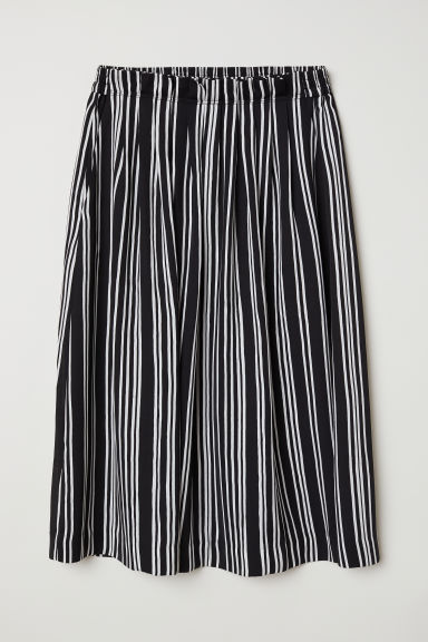 Striped skirt - Black/White striped -  | H&M CN