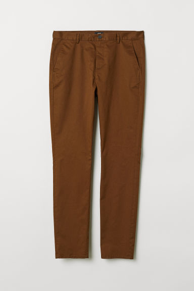 Cotton chinos Slim Fit - Brown - Men | H&M