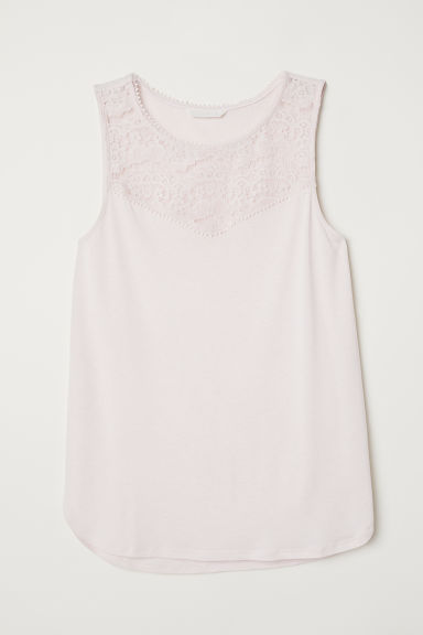 Sleeveless jersey top - Light pink - Ladies | H&M