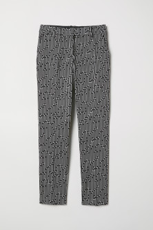 Patterned cigarette trousers