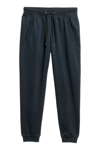 Pantaloni in felpa Regular fit - Blu scuro mélange - UOMO | H&M CH