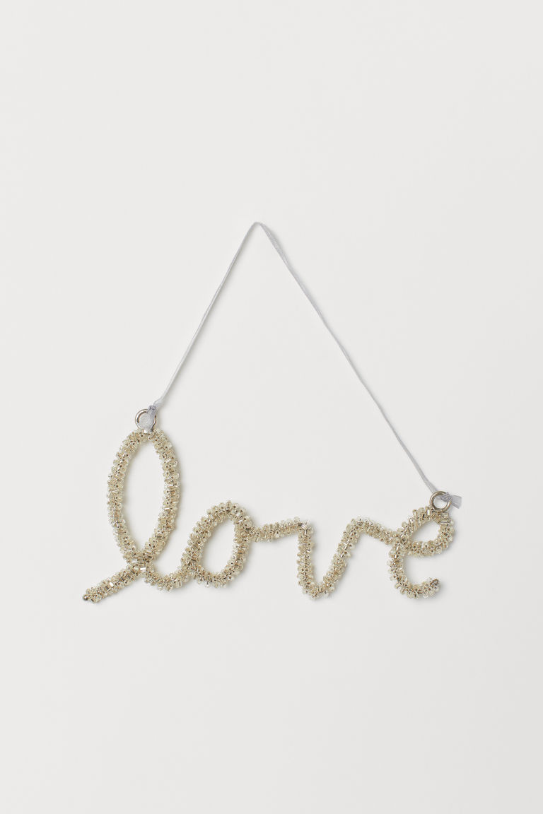 Christmas decoration - Silver-coloured/Love - Home All | H&M CN