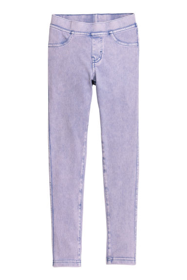 Jersey leggings - Purple washed out - Kids | H&M
