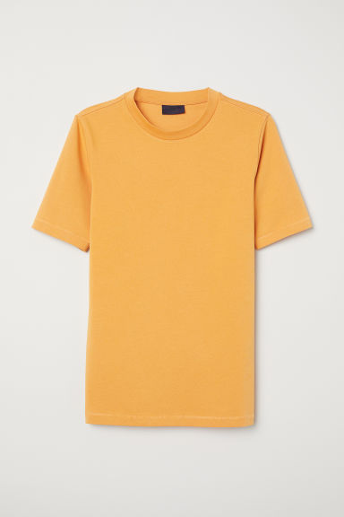 Ribbed T-shirt - Orange -  | H&M