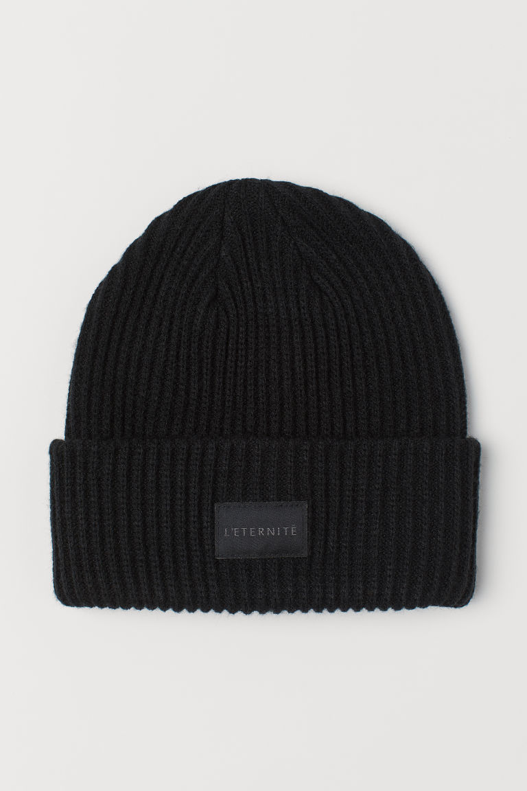 Ribbed hat - Black -  | H&M CN