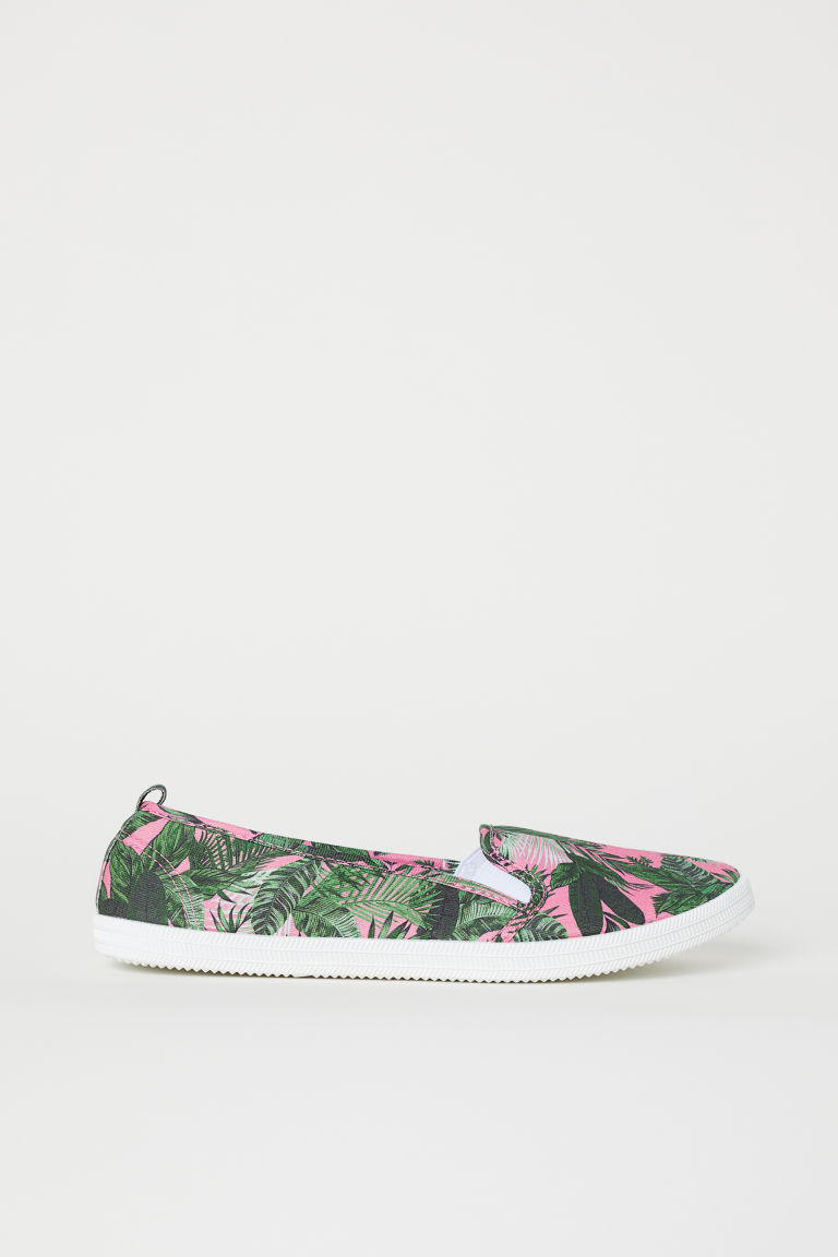 Slip-on sneakers - Roze/bladdessin -  | H&M BE