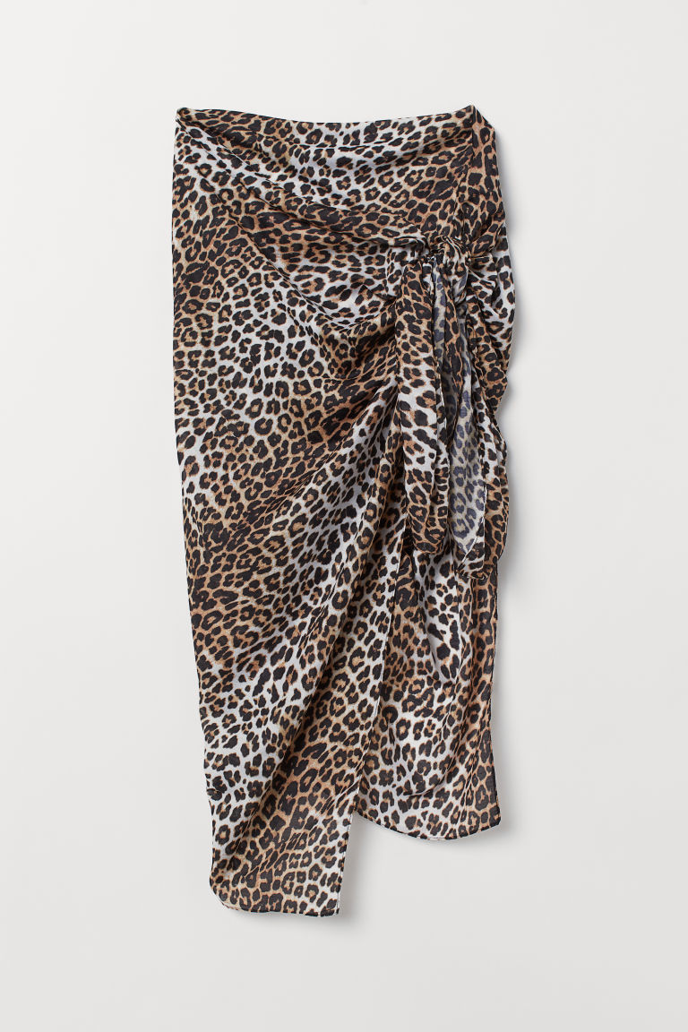 4-in-1-scarf - White/Leopard print - Ladies | H&M