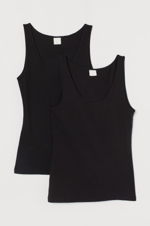 2-pack ribbed vest tops