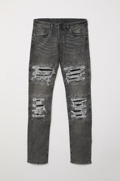Trashed Skinny Jeans - Grigio scuro - UOMO | H&M IT