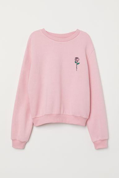 Short sweatshirt - Pink/Rose - Ladies | H&M