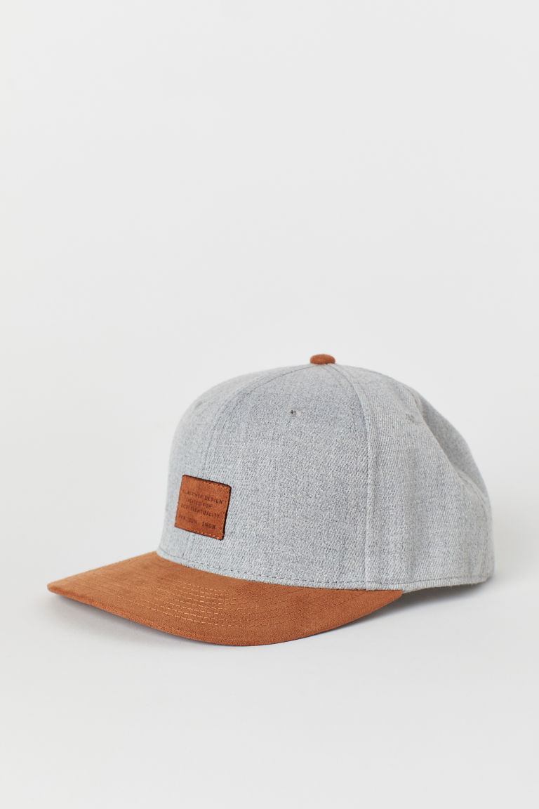 Cap - Light grey marl/Beige - Men | H&M CN