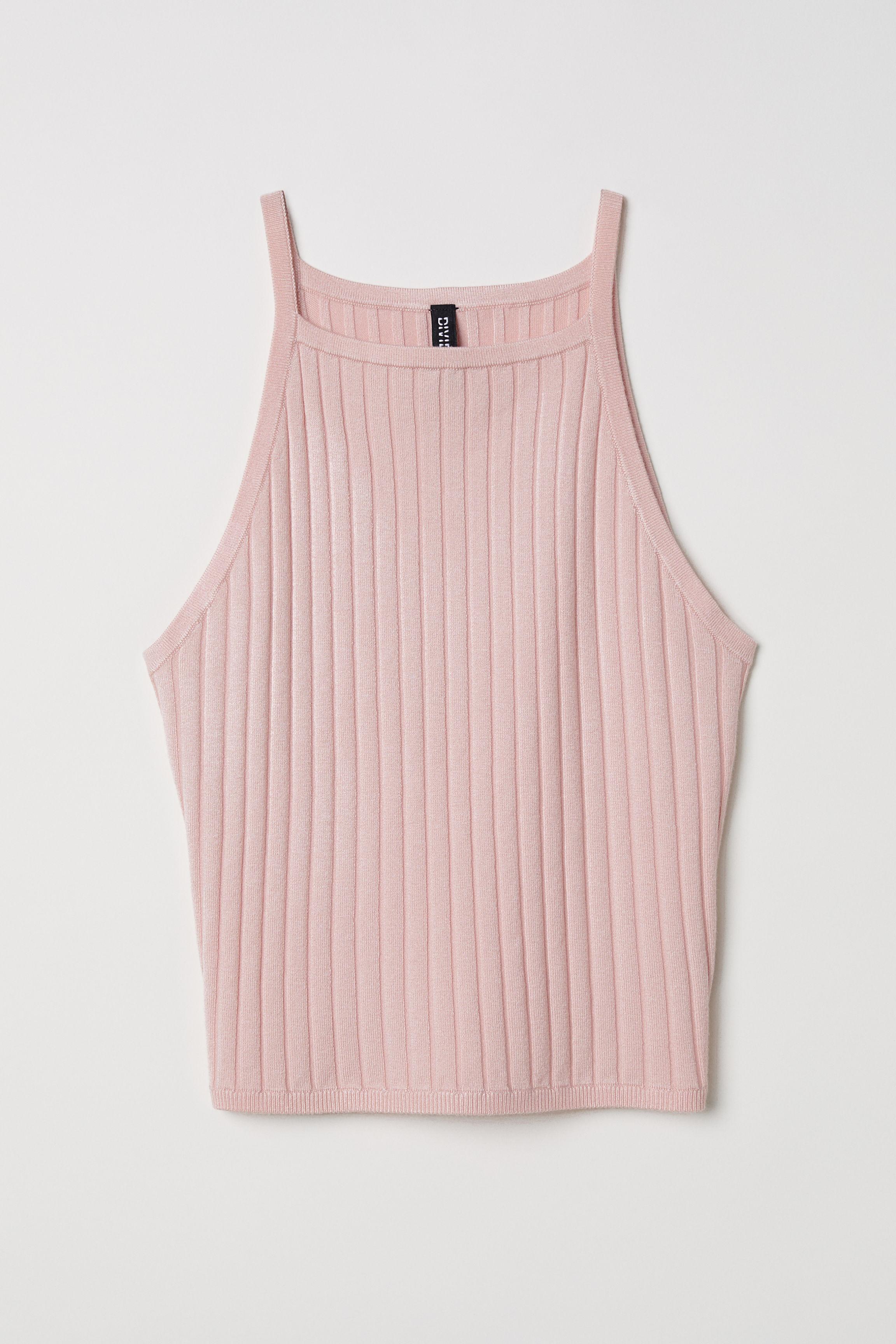 f561a77da45ee Ribbed Tank Top - Light pink - Ladies