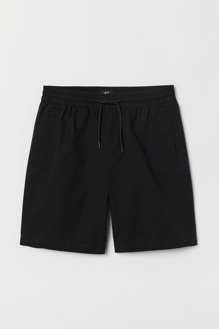 Cotton shorts - Black - Men | H&M CN