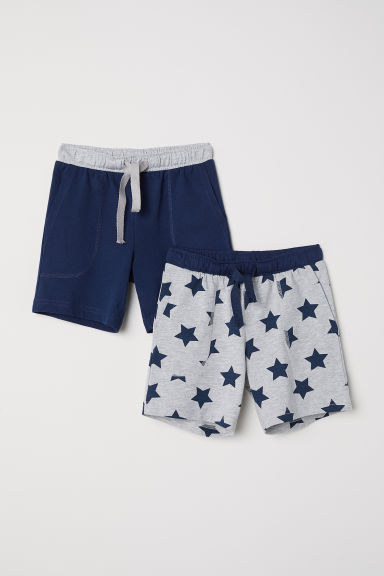 2-pack pyjama shorts - Dark blue/Stars - Kids | H&M GB
