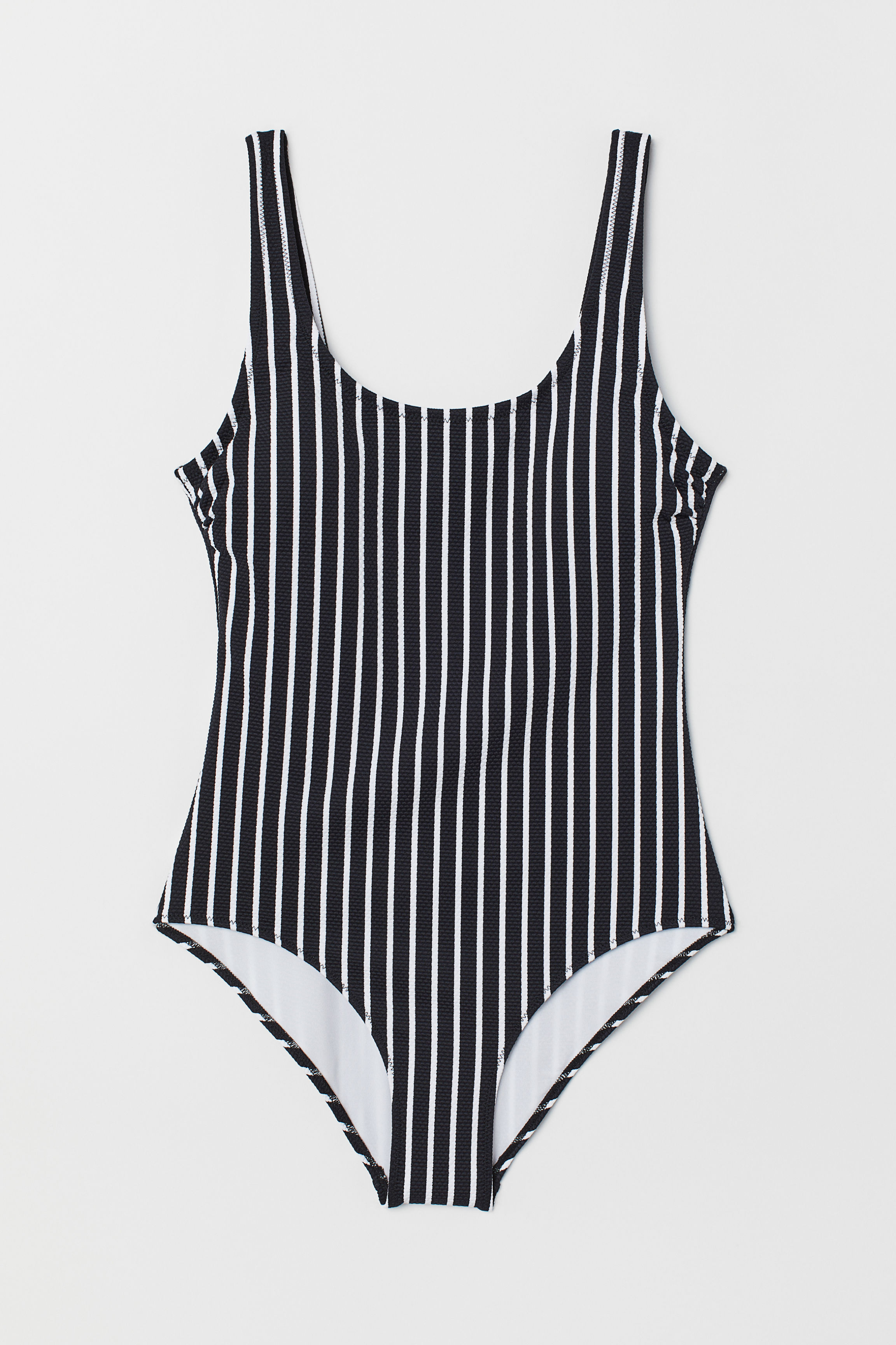 4a2d5c453c7 Swimsuit - Yellow/white striped - Ladies | H&M US
