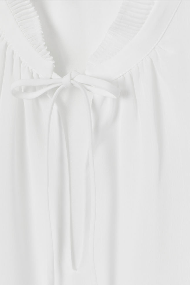 a13a86f7c179b ... Airy Pleated-collar Blouse - White - Ladies