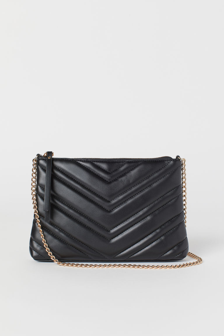 Quilted shoulder bag - Black - Ladies | H&M GB