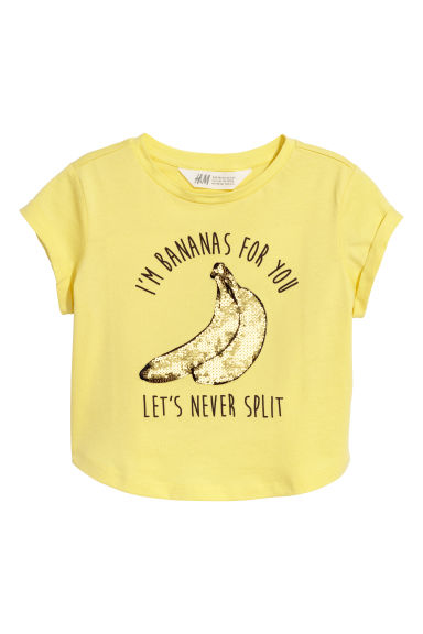 Top with a motif - Yellow/Bananas -  | H&M CN