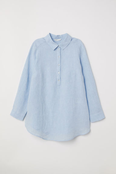 MAMA Linen shirt - Light blue - Ladies | H&M CN