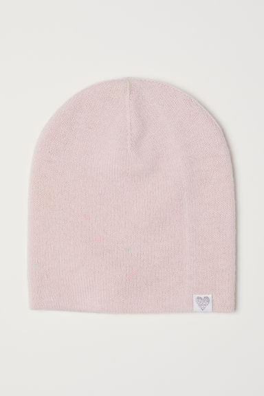 Fine-knit wool hat - Powder pink - Kids | H&M CN