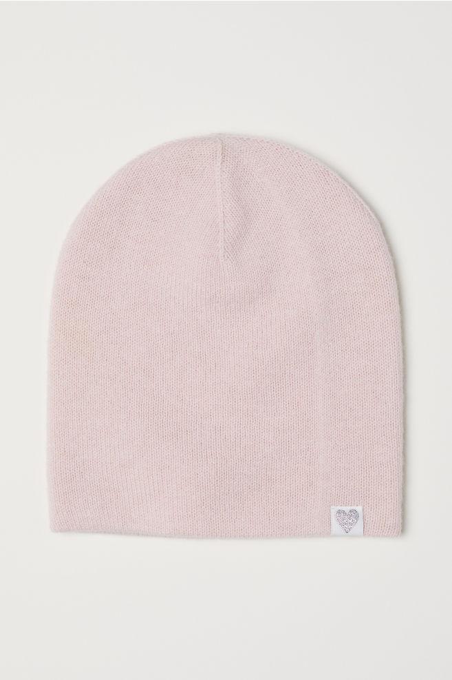 Berretto lana in maglia fine - Rosa cipria - BAMBINO  af7b64939539
