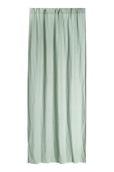 Washed linen curtain length - Dusky green - Home All | H&M CN