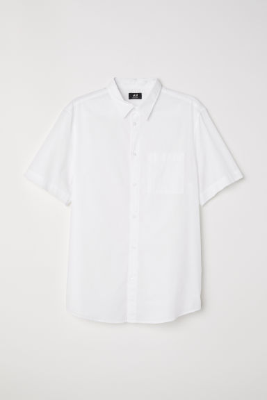 Regular Fit Cotton Shirt - White -  | H&M CA