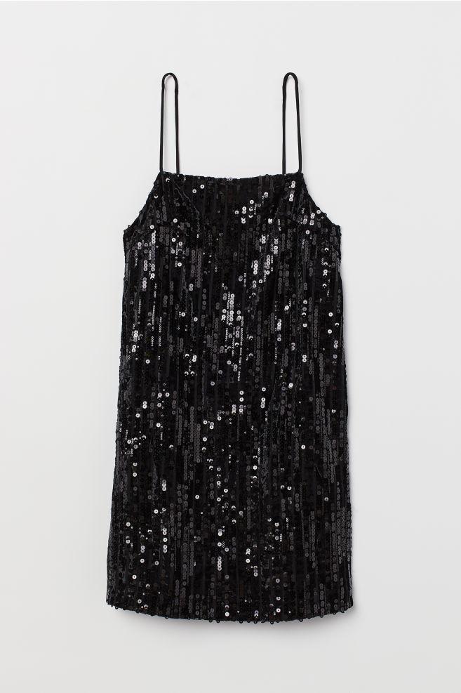 c712d8043ed Short Sequined Dress - Black - Ladies