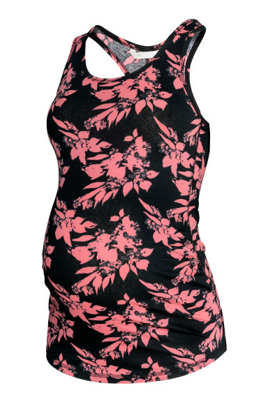 MAMA Vest top - Black/Patterned - Ladies | H&M CN