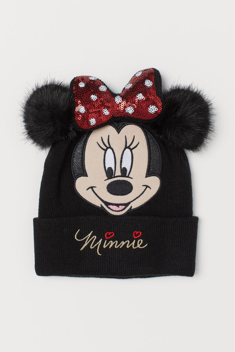 Hat with a motif - Black/Minnie Mouse - Kids | H&M IN