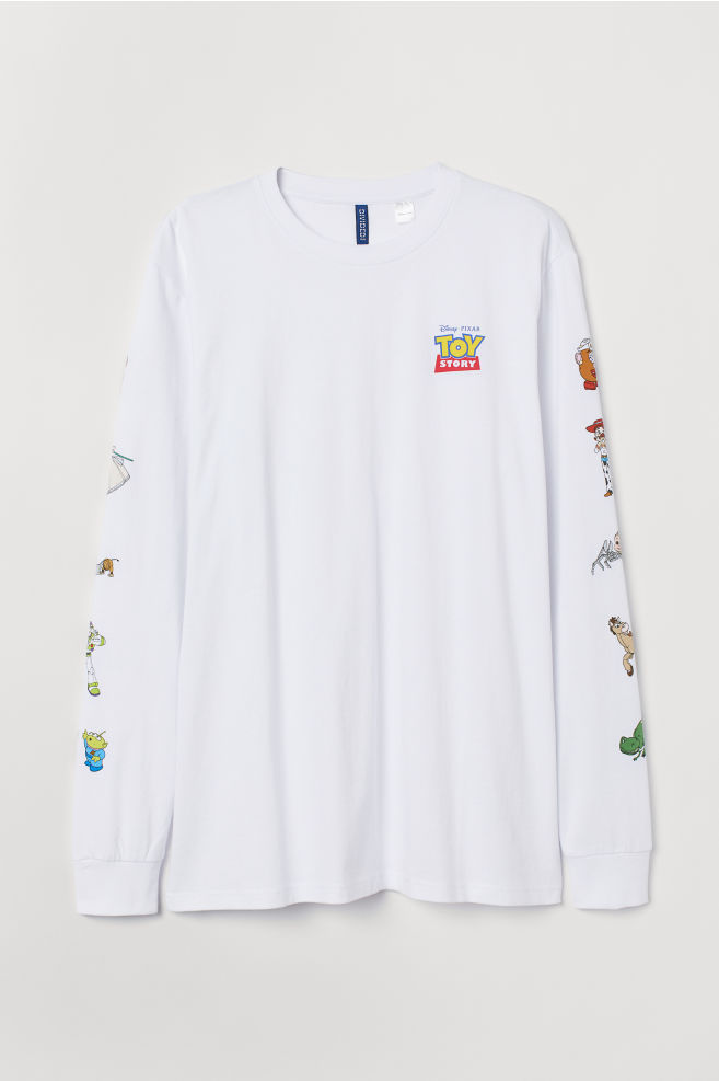 aaa977e212 T-shirt en jersey - Blanc/Toy Story - HOMME | H&M ...